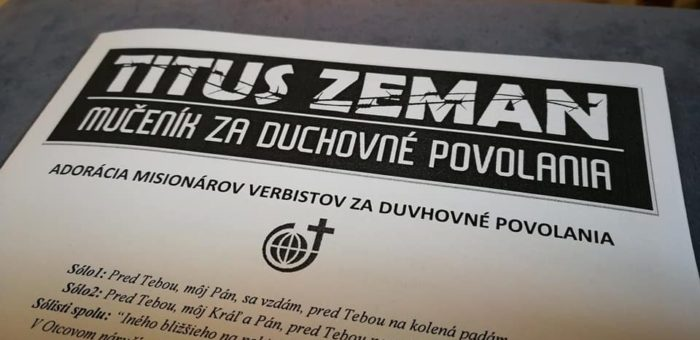 Verbisti prosili bl. Titusa Zemana za nové povolania